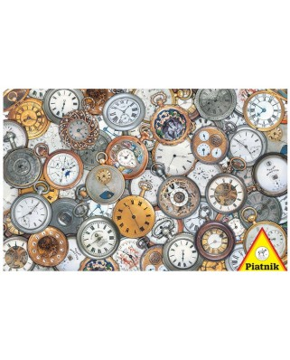 Puzzle Piatnik - Pocket Watches, 1.000 piese dificile (5680)