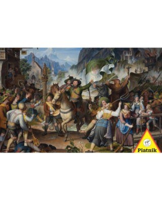 Puzzle Piatnik - Andreas Hofer at War in Tyrol, 1.000 piese (5695)