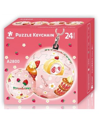Puzzle 3D Pintoo - Keychain Strawberry, 24 piese (A2800)