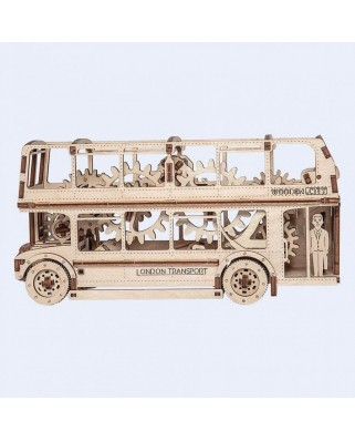 Puzzle 3D din lemn Wooden.City - London Bus, 216 piese (Wooden-City-WR303-8022)