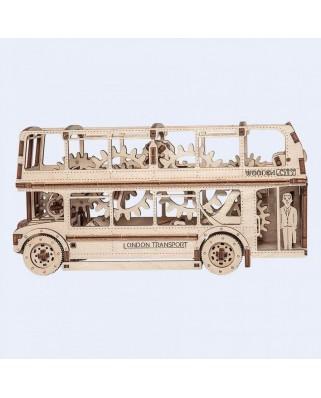 Puzzle 3D din lemn Wooden.City - London Bus, 216 piese (Wooden-City-WR303-8022)