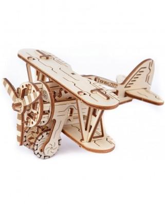 Puzzle 3D din lemn Wooden.City - Biplane, 63 piese (Wooden-City-WR304-8039)