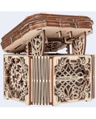 Puzzle 3D din lemn Wooden.City - Wooden Mystery Box, 176 piese (Wooden-City-WR315-8176)