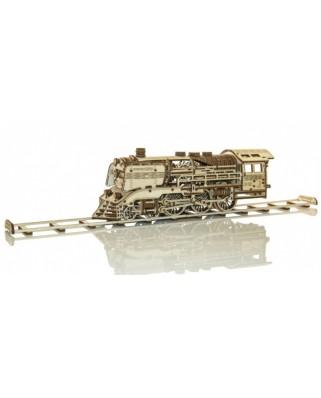 Puzzle 3D din lemn Wooden.City - Wooden Express + Rails, 384 piese (Wooden-City-WR321-8381)