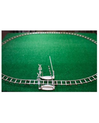Puzzle 3D din lemn Wooden.City - Round rails + Crossing, 150 piese (Wooden-City-WR324-8480)