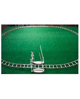 Puzzle 3D din lemn Wooden.City - Round rails + Crossing, 150 piese (Wooden-City-WR324-8480)
