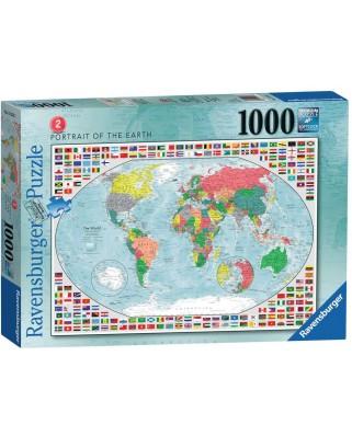 Puzzle Ravensburger - Harta Lumii 2, 1000 piese (15253)