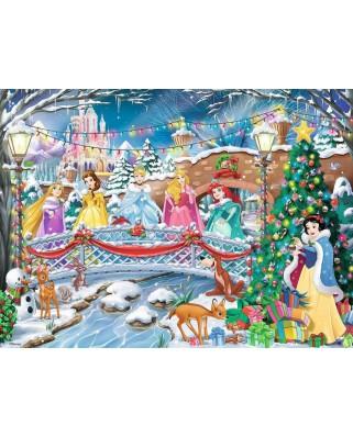 Puzzle Ravensburger - Craciunul Printeselor Disney, 500 piese (14778)