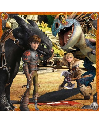 Puzzle Ravensburger - Dragons, 3x49 piese (09258)