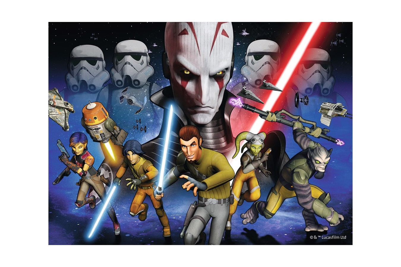 Puzzle Ravensburger - Star Wars Rebels, 300 piese (13195)