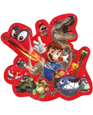 Puzzle contur Winning Moves - Super Mario Odyssey - Mario & Cappy, 280 piese (Winning-Moves-11323)