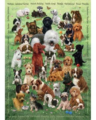 Puzzle Cobble Hill - Puppy Love, 350 piese XXL (Cobble-Hill-54623)