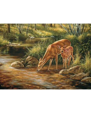 Puzzle Cobble Hill - Deer Family, 350 piese XXL (Cobble-Hill-54626)