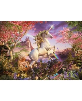 Puzzle Cobble Hill - Realm of the Unicorn, 350 piese XXL (Cobble-Hill-54634)