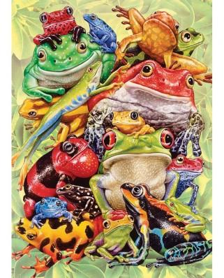 Puzzle Cobble Hill - Frog Pile, 1.000 piese (Cobble-Hill-57203)