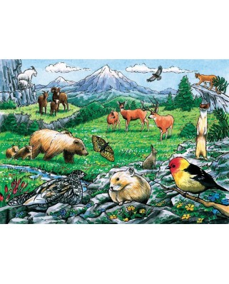 Puzzle Cobble Hill - Rocky Mountain Wildlife, 35 piese (Cobble-Hill-58806)