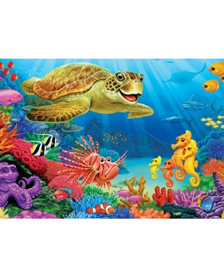 Puzzle Cobble Hill - Undersea Turtle, 35 piese (Cobble-Hill-58866)