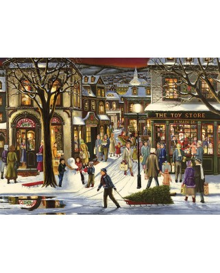 Puzzle Cobble Hill - Downtown Christmas, 35 piese (Cobble-Hill-58873)
