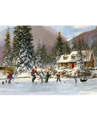 Puzzle Cobble Hill - Hockey Pond, 35 piese (Cobble-Hill-58874)
