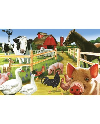 Puzzle Cobble Hill - Farmyard Welcome, 35 piese (Cobble-Hill-58880)
