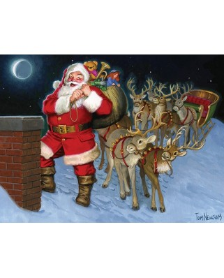Puzzle Cobble Hill - Santa by the Chimney, 35 piese (Cobble-Hill-58883)