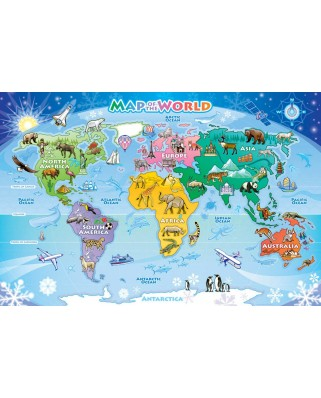 Puzzle Cobble Hill - Map of the World, 35 piese (Cobble-Hill-58893)