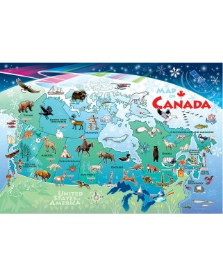 Puzzle Cobble Hill - Canada Map, 35 piese (Cobble-Hill-58894)