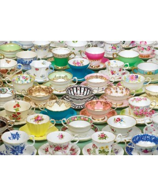 Puzzle Cobble Hill - Tea Cups, 1.000 piese (Cobble-Hill-80034)