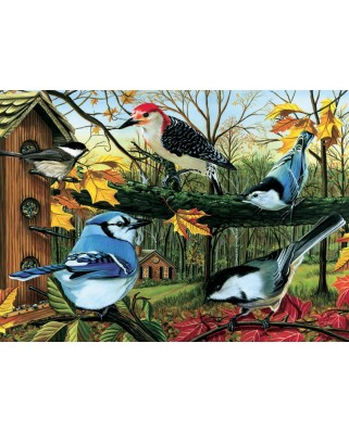 Puzzle Cobble Hill - Blue Jay And Friends, 1.000 piese (Cobble-Hill-80053)