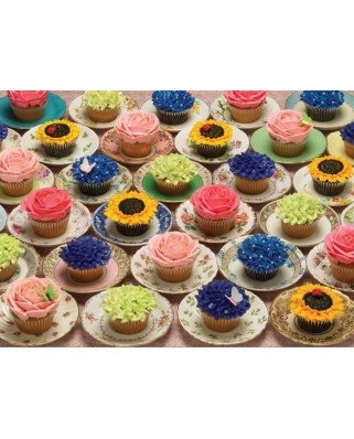 Puzzle Cobble Hill - Cupcakes and Saucers, 1.000 piese (Cobble-Hill-80057)