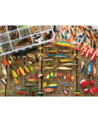Puzzle Cobble Hill - Fishing Lures, 1.000 piese (Cobble-Hill-80058)