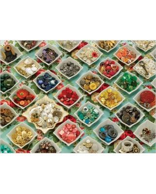 Puzzle Cobble Hill - Grandma's Buttons, 1.000 piese (Cobble-Hill-80066)