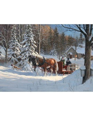 Puzzle Cobble Hill - Sugar Shack Horses, 1.000 piese (Cobble-Hill-80067)