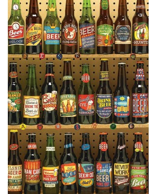 Puzzle Cobble Hill - Beer Collection, 1.000 piese (Cobble-Hill-80082)