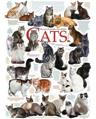 Puzzle Cobble Hill - Cat Quotes, 1000 piese (Cobble-Hill-80095)