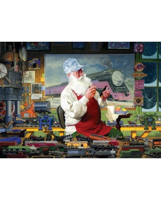 Puzzle Cobble Hill - Santa's Hobby, 1.000 piese (Cobble-Hill-80110)