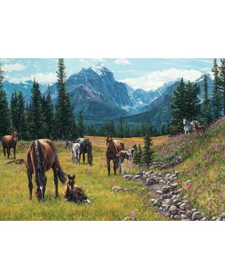 Puzzle Cobble Hill - Horse Meadow, 1.000 piese (Cobble-Hill-80113)