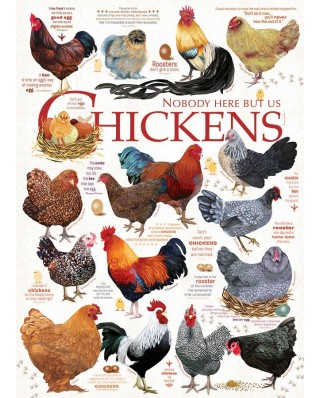 Puzzle Cobble Hill - Chicken Quotes, 1.000 piese (Cobble-Hill-80120)
