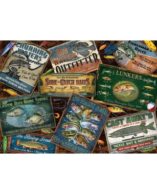 Puzzle Cobble Hill - Fish Signs, 1000 piese (Cobble-Hill-80130)