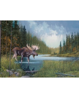 Puzzle Cobble Hill - Moose Lake, 1.000 piese (Cobble-Hill-80133)