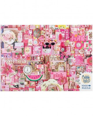 Puzzle Cobble Hill - Pink, 1.000 piese (Cobble-Hill-80145)