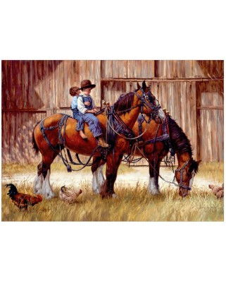 Puzzle Cobble Hill - Back to the Barn, 1.000 piese (Cobble-Hill-80155)