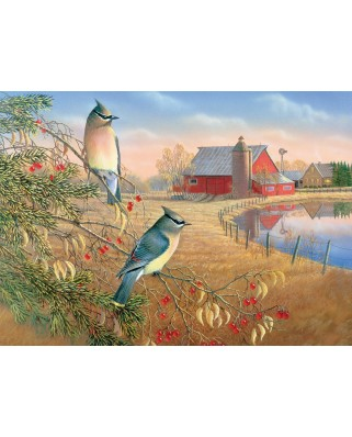 Puzzle Cobble Hill - Cedar Waxwings, 1.000 piese (Cobble-Hill-80189)