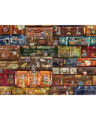Puzzle Cobble Hill - Luggage, 1.000 piese (Cobble-Hill-80195)
