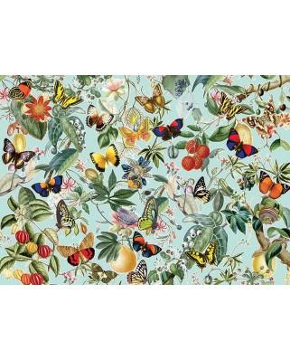 Puzzle Cobble Hill - Fruit and Flutterbies, 1.000 piese (Cobble-Hill-80196)