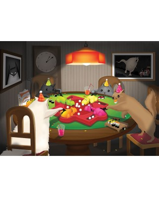 Puzzle Cobble Hill - Cats Playing Hippos, 1.000 piese (Cobble-Hill-80205)