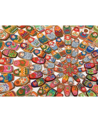 Puzzle Cobble Hill - Matryoshka Cookies, 1.000 piese (Cobble-Hill-80215)