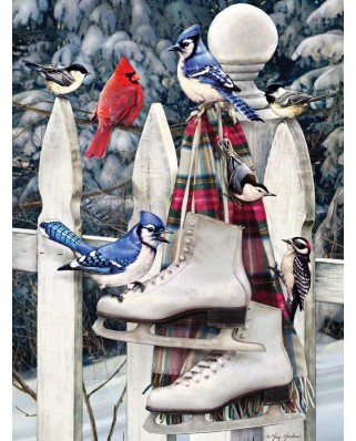Puzzle Cobble Hill - Birds with Skates, 500 piese XXL (Cobble-Hill-85026)