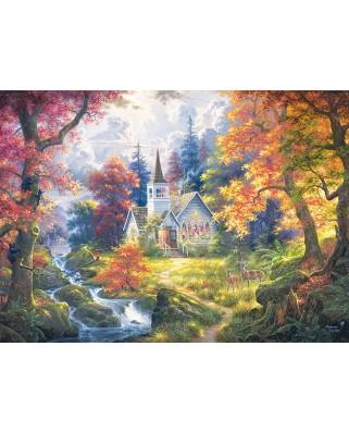Puzzle Cobble Hill - Chapel of Hope, 500 piese XXL (Cobble-Hill-85053)