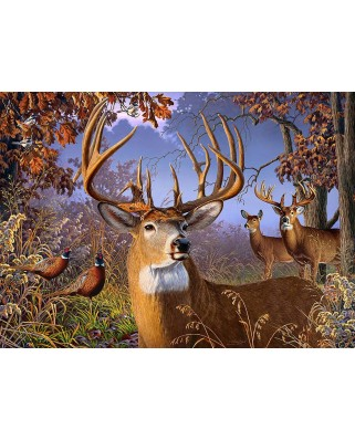 Puzzle Cobble Hill - Deer and Pheasant, 500 piese XXL (Cobble-Hill-85054)